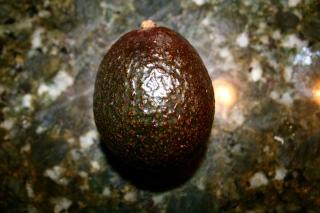 A favorite vegan choice: the delicious avocado! Not too ripe.